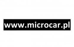 Naklejka na zderzak Microcar