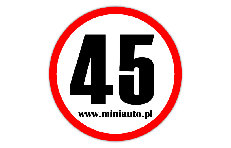 Naklejka ogranicznie 45km/h